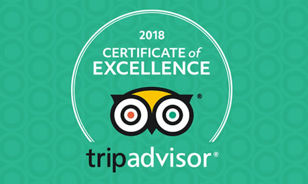 In 2018 The Spaniard was awarded TripAdvisors Certificate of Excellence. You know you'll be well looked after!